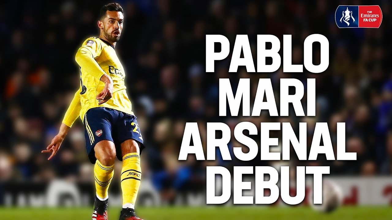 EVERY TOUCH | New Signing Pablo Mari's Arsenal Debut | Defending & Passing | Emirates FA Cu