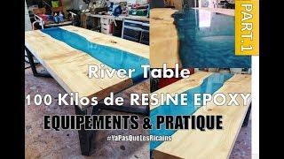 [PART.1/3]TOUT SAVOIR sur la RESINE EPOXY - RIVER TABLE RESIN 100 KILOS  MAKER  By ADOPTEUNECAISSE®
