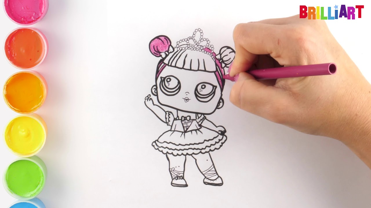 lol surprise doll easy coloring and drawing for childrens