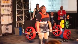 16 Year Old Girl Sets World Record with 550 lbs Squat| Chelsea Savit Dominates|Arnold Classic