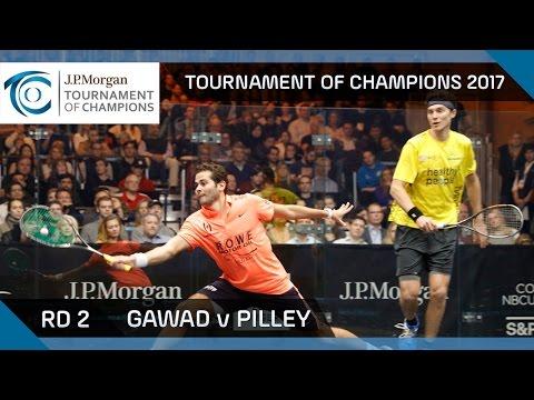 Squash: Gawad v Pilley - Tournament of Champions 2017 Rd 2 Highlights