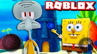 VIREI O LULA MOLUSCO POR 1 DIA NO SIMULADOR DE BOB ESPONJA DO ROBLOX!! (Spongebob Simulator)