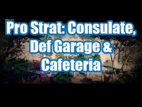 Rainbow Six Pro Strat: Consulate, Defending Garage & Cafeteria