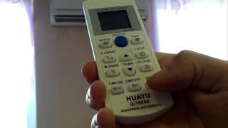 Налаштування пульта для кондиціонера Q-1000E
