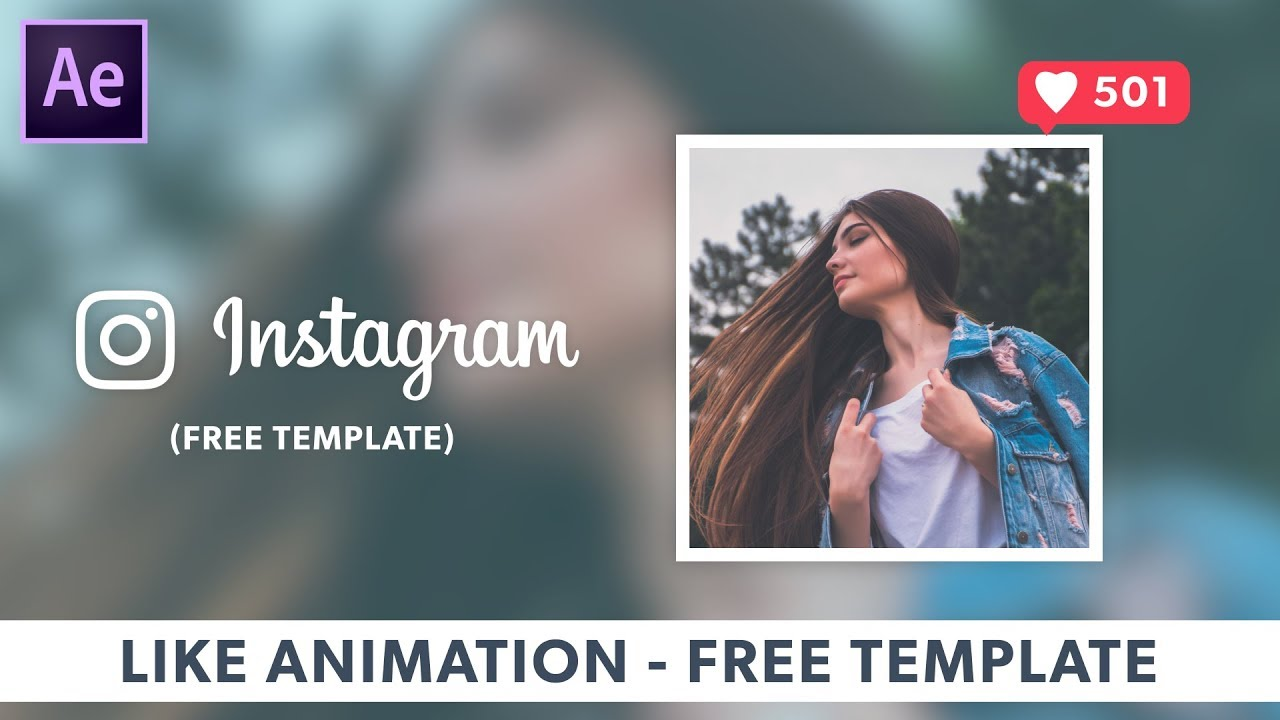 new instagram like animation template after effects. Black Bedroom Furniture Sets. Home Design Ideas