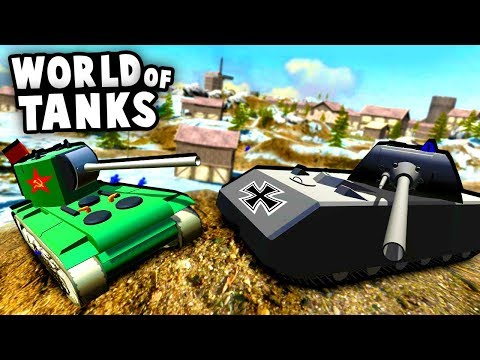 World of Tanks in Ravenfield! Russian KV-2 vs German Maus! (Ravenfield Best Mods) |