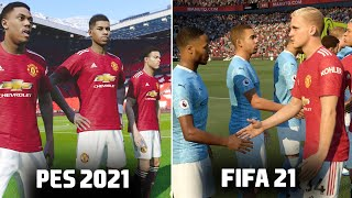 🔥 PES 2021 vs FIFA 21 - GAMEPLAY COMPARISON (Graphics, Penalties, Free Kicks, Celebrations)