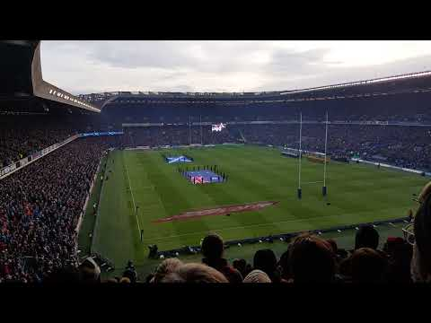 65,000 Scotland Fans - Flower of Scotland - Scotland 53 - 24 Australia - 25 Nov 2017