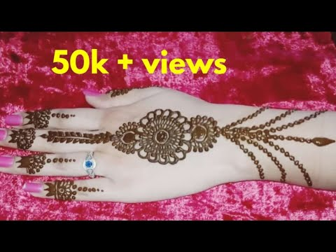 Beautiful Jewellery Mehndi Design Back Hand || Mehandi Design For Back Hands