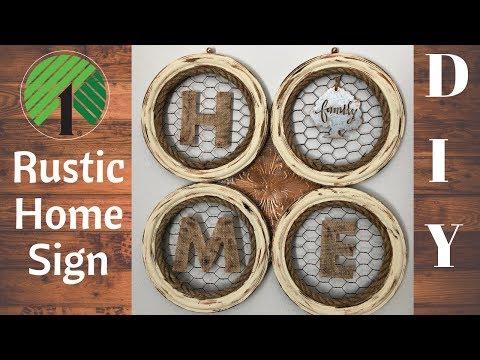 DIY Rustic Home Decor   Home Sign