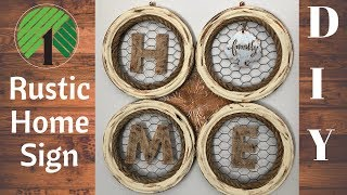DIY Rustic Home Decor | Home Sign