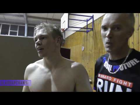 Post Fight with Ben Thompson after a kickboxing showdown with Joey Baylon