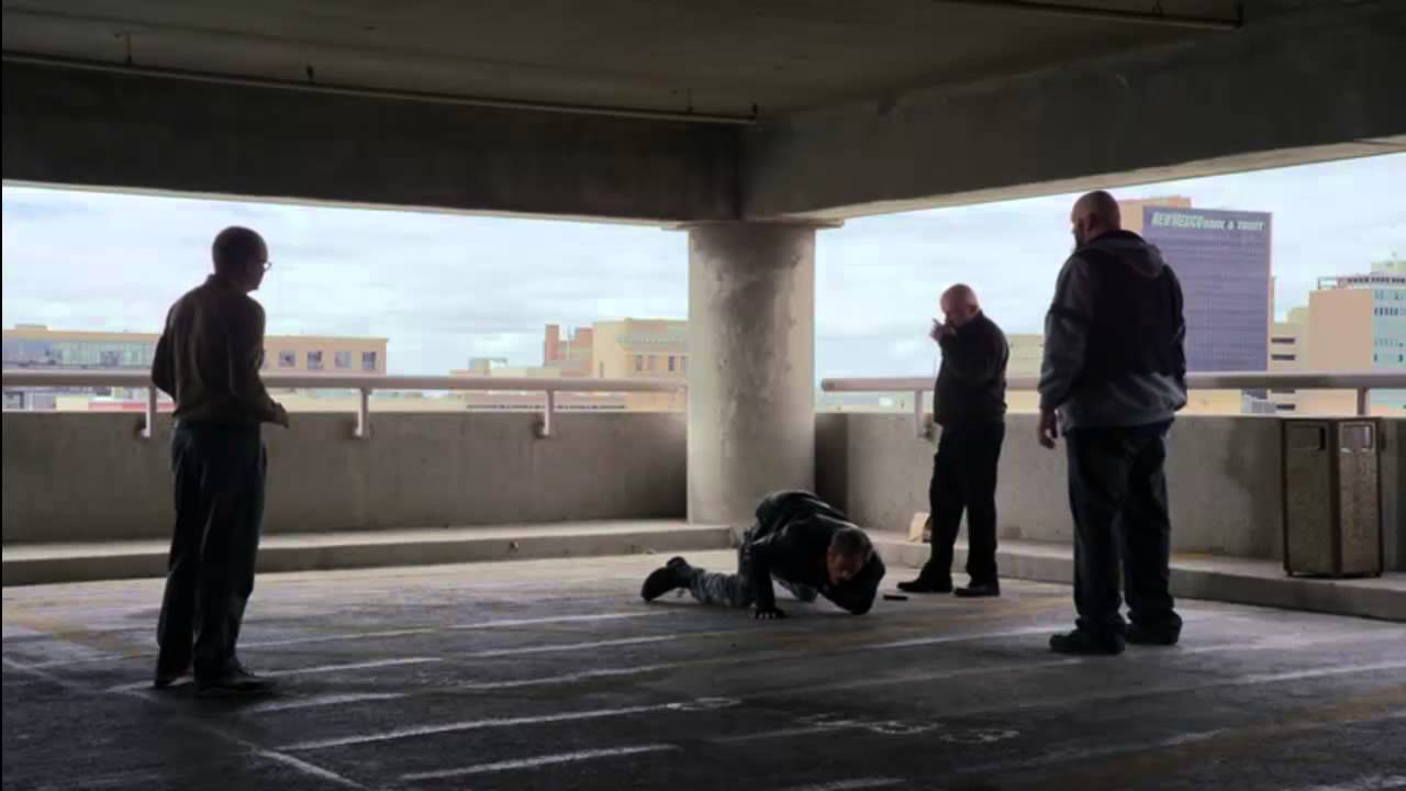 Garage Parking Stop >> Better Call Saul - Mike Parking Garage Scene - YouTube