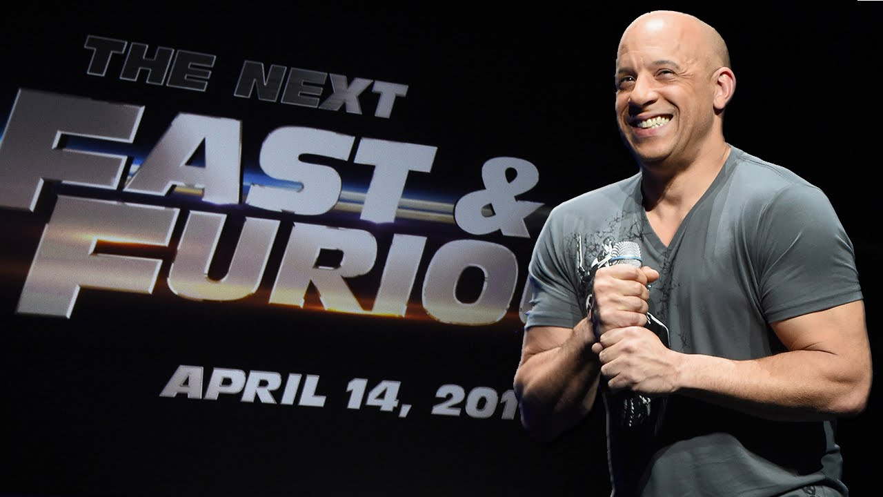 vin diesel announces fast and furious 8 release date youtube. Black Bedroom Furniture Sets. Home Design Ideas