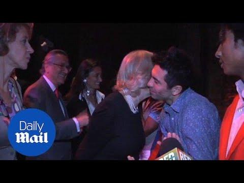 Cheeky Camilla breaks royal protocol kissing performer on cheek - Daily Mail