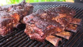 Tasty Beef Plate Short Ribs on Kamado Joe