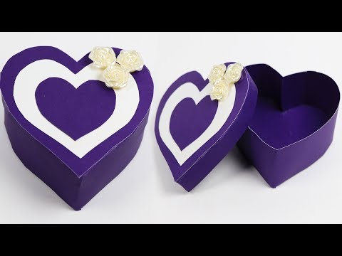 How To Make A Heart Shaped Paper Gift Box | DIY Gift Box Making (Very Easy)