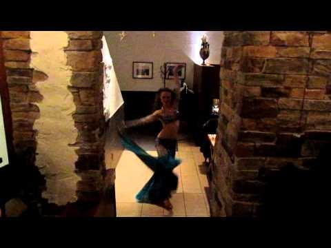 Belly dancing at the Balkan Greek Restaurant, Banff, Alberta, Canada