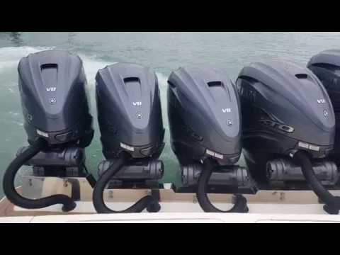 5 Yamaha 425 HP Outboards on a 53 Foot Scout - Wow!!