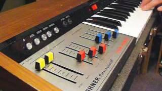 Logan String Melody + Moog Minimoog + Taurus 1 + EHX Small Stone live jam