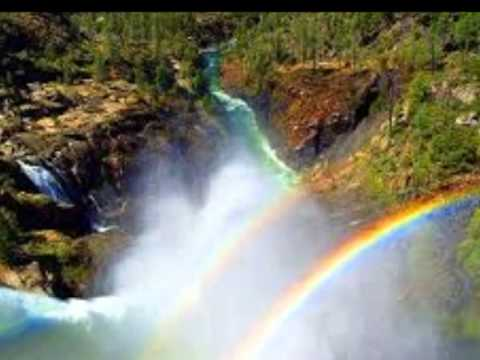 waterfalls and rainbows