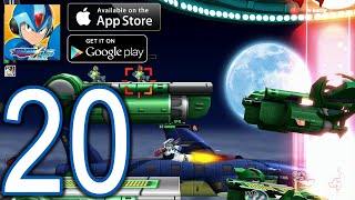 MEGAMAN X DiVE Mobile iOS Android Walkthrough - Part 20 - Coop 4-2  Space-Time Jumper 4, Overdrive O