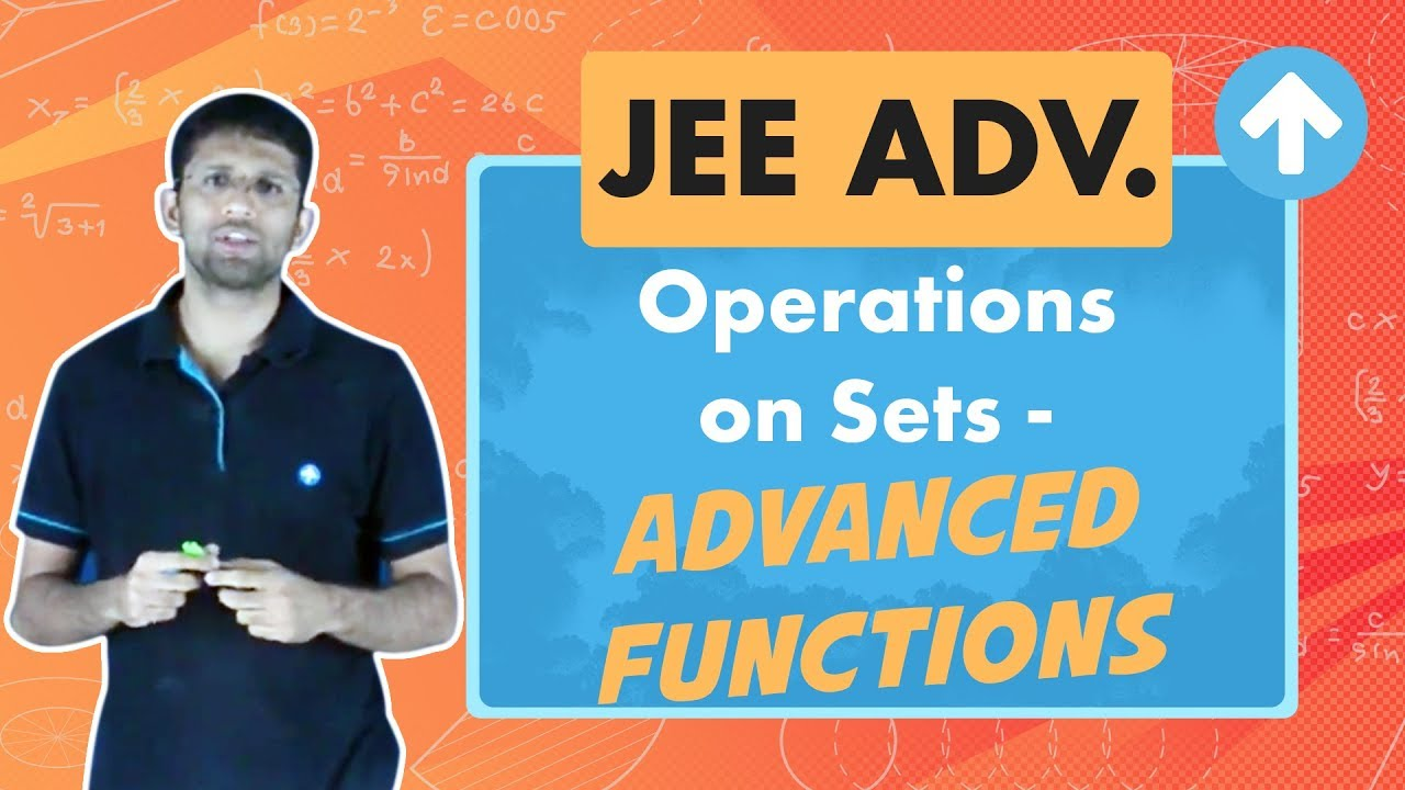 Operations on Sets   Jee Maths   Sets, Relations and Functions   English