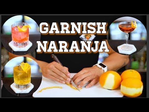 GARNISH NARANJA / TUTORIAL DECORACION BARTENDER / COCKTAIL