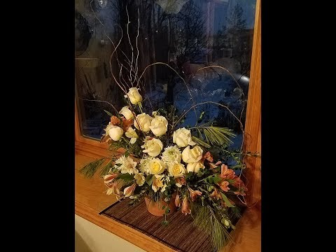 Do It Yourself Casual Yet Elegant Flowers Arranged in a Clay Pot