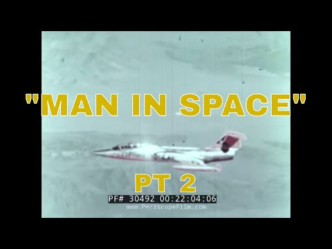 "NASA LIFTING BODY DOCUMENTARY ""MAN IN SPACE"" Part 2 of 2 30492"