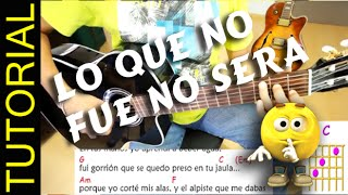 Como tocar LO QUE NO FUE NO SERA en Guitarra acordes