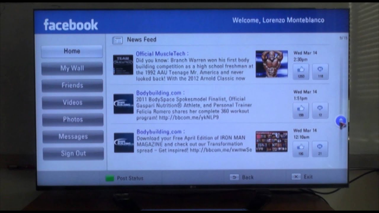lg smart tv how to use the facebook app vol 2 youtube