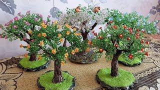 Дерево из бисера. Сборка Цветущего Дерева Из Бисера / Прямой эфир