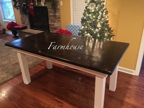 HOW TO BUILD A FARMHOUSE KITCHEN TABLE - EASY DIY PROJECT