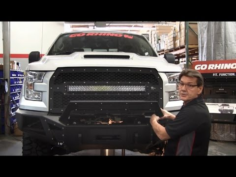 Go Rhino BR5 Front Bumper Overview and Installation for 2015 Ford F-150 (24295T)