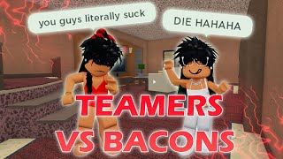 Teamers dance on bacons then get karma... | MM2 | Roblox