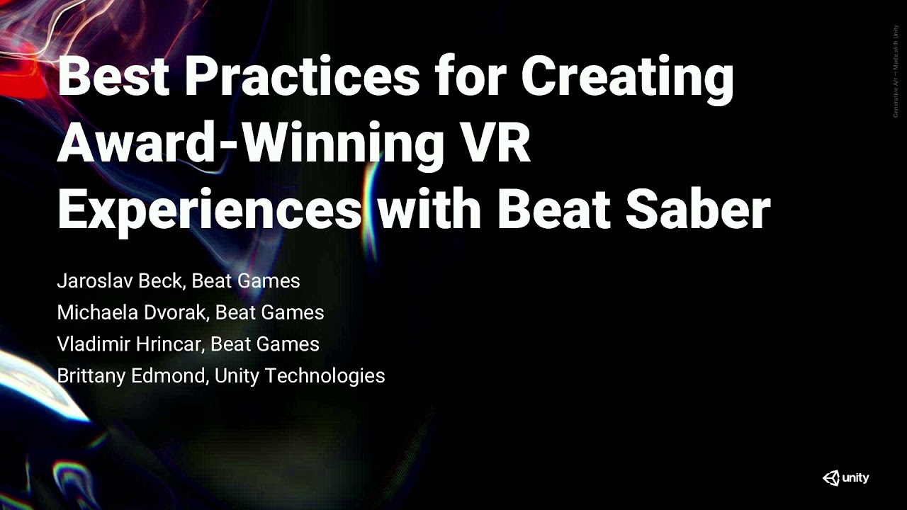 Best Vr Experiences 2019 Beat Saber live: Best practices for creating award winning VR