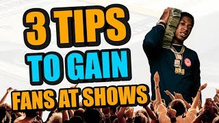 3 Secrets To Gain Fans Opening For Big Artists