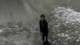 Andrew Tsai against many snow.