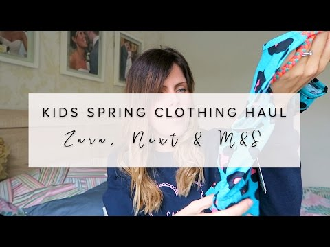 SPRING KIDS (BOYS & GIRLS)  CLOTHING HAUL- NEXT, ZARA & M & S