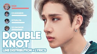 Stray Kids - Double Knot (English Ver.) Line Distribution + Lyrics Color Coded | PATREON REQUESTED