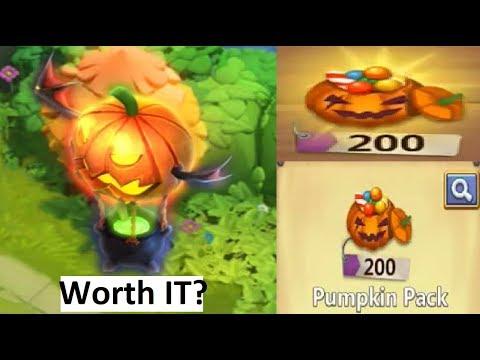 200 Pumpkin Packs IS IT WORTH BUYING Castle Clash