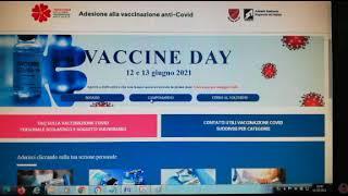 Vaccine Day 12-13 giugno: prenotazioni aperte, ma impossibile aderire