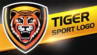 Adobe Illustrator | Sport, Esport Logo Speedart  | Tiger Logo