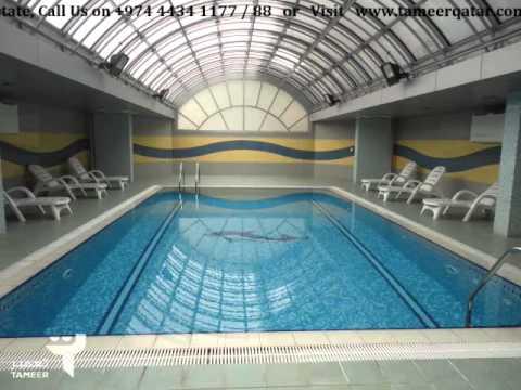 Tameer residence al saad doha qatar youtube for Al sadd sports club swimming pool
