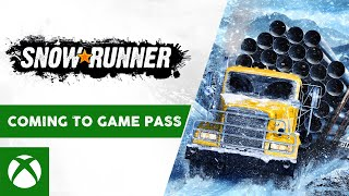 Snowrunner - available may 18 on xbox game pass