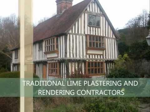Lime plastering,lime rendering, wattle and daub .wmv