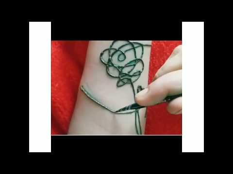 BTS tattoo (BTS love yourself henna tattoo) 😉😉😉