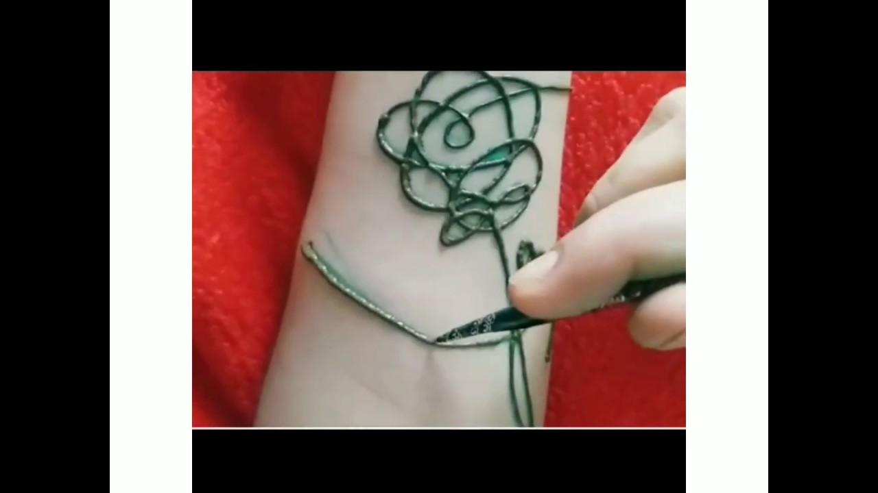 Bts Tattoo Bts Love Yourself Henna Tattoo Youtube
