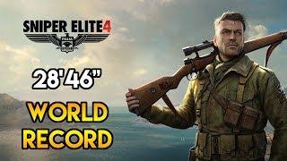 "Sniper Elite 4 - Any% Speedrun - 28'46"" [World Record]"